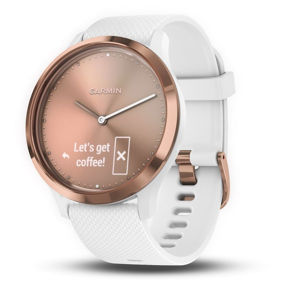 8c61863ad83e Garmin vivomove HR Hybrid Smartwatch - White Rose Gold
