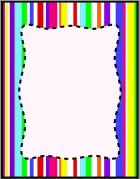 Colorful Stripes Frames, Borders, Background Clip Art ...