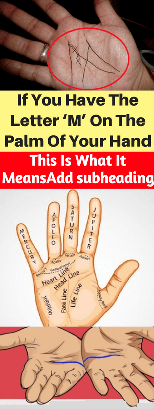 If You Have The Letter 'M' On The Palm Of Your Hand, This Is What It Means!!!  #beautytips  #fitness