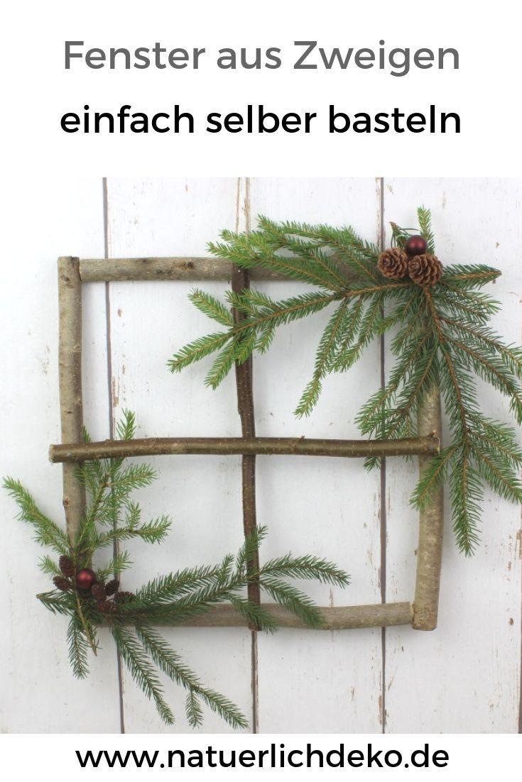 Machen Sie selbst Fenster aus Zweigen #fensterdekoherbst