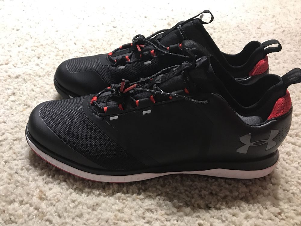 the best attitude 130a6 7c28d Under Armour UA Tempo Sport 2 Hybrid Golf Shoe Mens Sz 12 Black Red 3000215  001