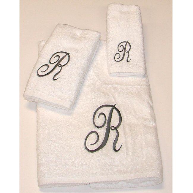 Avanti Scroll 'R' Monogram 3-piece Towel Set
