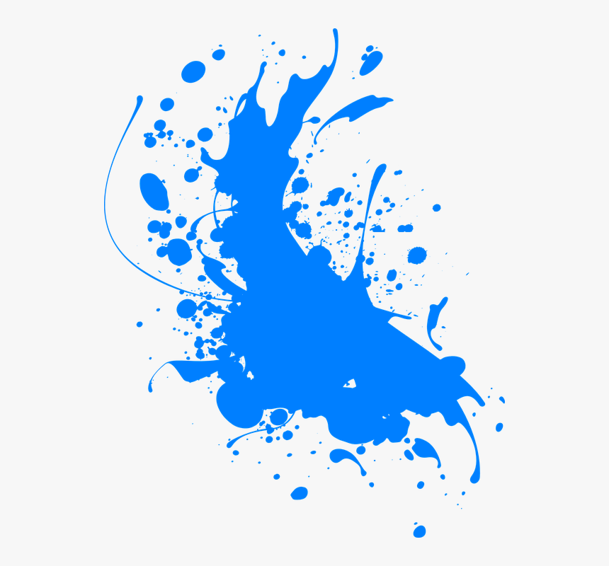 Ink Blue Splatter Abstract Paint Splash Spray Blue Splatter Paint Transparent Background Hd Png Download Is Fr Painting Paint Splash Abstract Painting