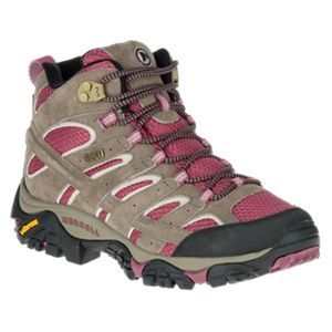 Merrell Moab 2 Mid Waterproof Hiking Boots for Ladies - Granite - 6M ... 70e06543301