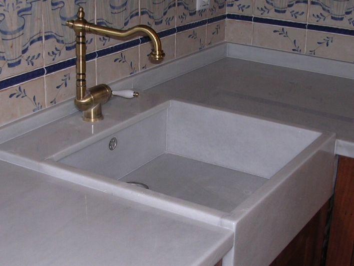fregadero antiguo en cocina moderna - Buscar con Google | vintage ...