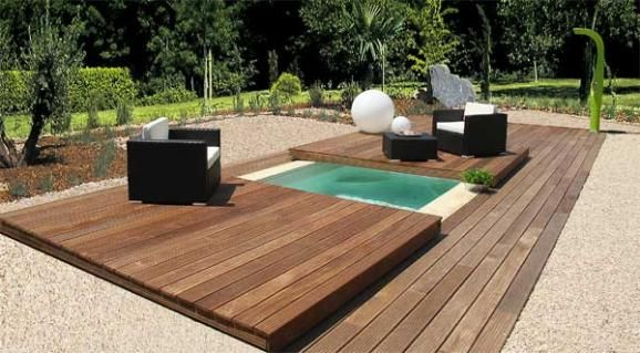 Mini piscine maxi d tente spa pinterest mini piscine piscines et d tente - Mini piscine terrasse ...