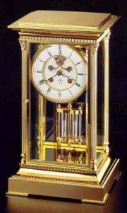 L'Epée pendulum gilded clock with mercury pendulum and Brocot escapement.