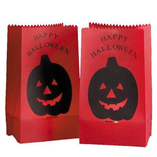 $1800-$2250 This Kurt Adler Luminas PVC Print Pumpkin Bag Light - decorate halloween bags