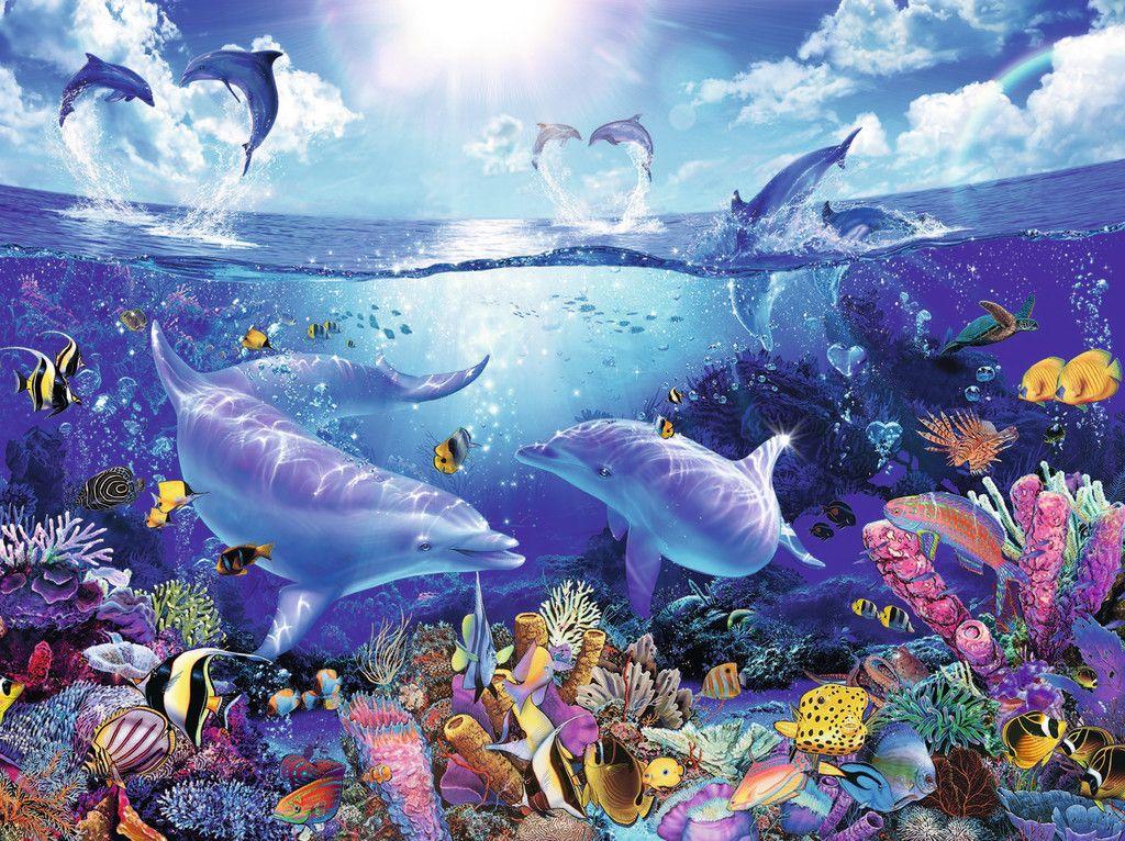 Ravensburger Tag Der Delfine 1000 Teile Delfine Bilder Ozean Kreaturen Fantastische Kunst