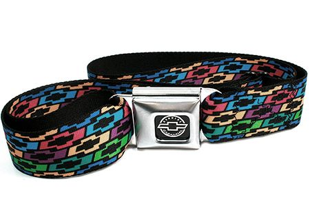 Chevrolet Colored Bowties Seatbelt Belt-Chevy Mall | Chevrolet ...