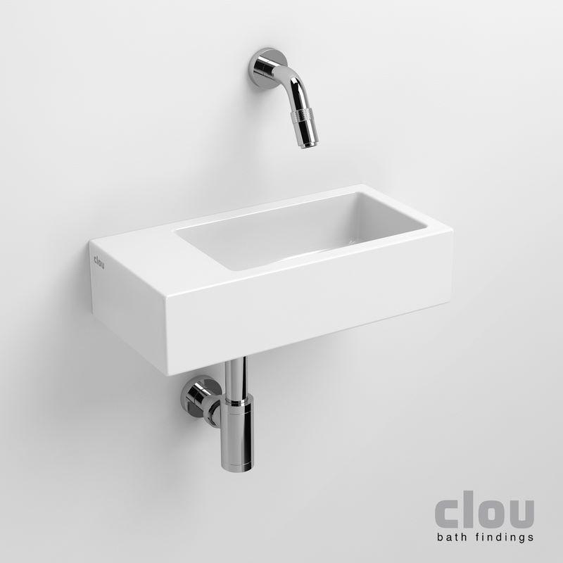 clou flush 3 lave-mains sans trou pour robinet, avec bonde libre