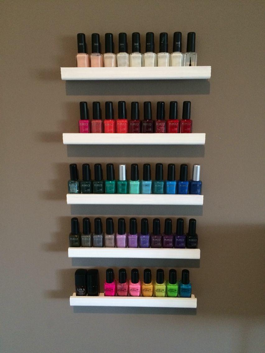 DYI Estante para esmaltes Nail Design | salon! | Pinterest | Esmalte ...