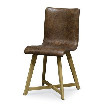Palecek, Ace Side Chair, Dining Chairs, Hardwood Frame And Legs, Ash Brown