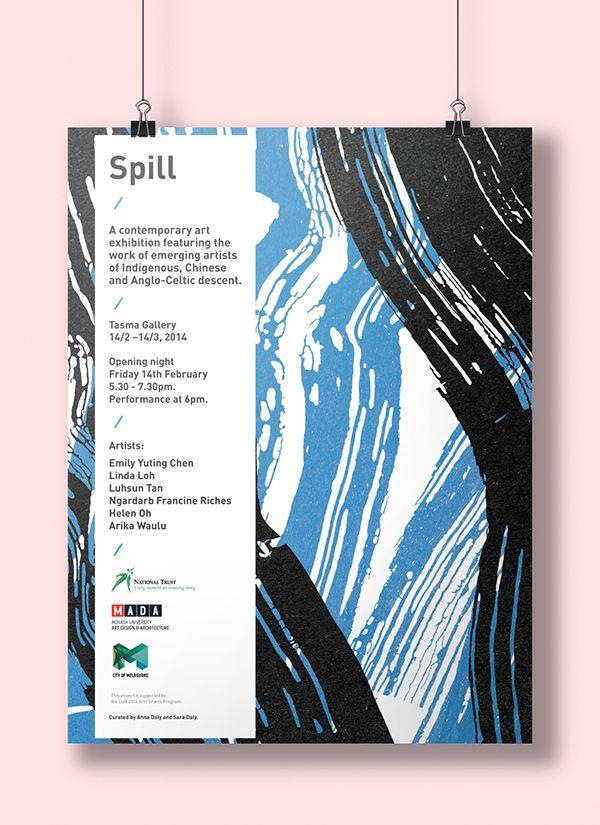 Poster, catalogue and flyer design for a contemporary art - contemporary flyer