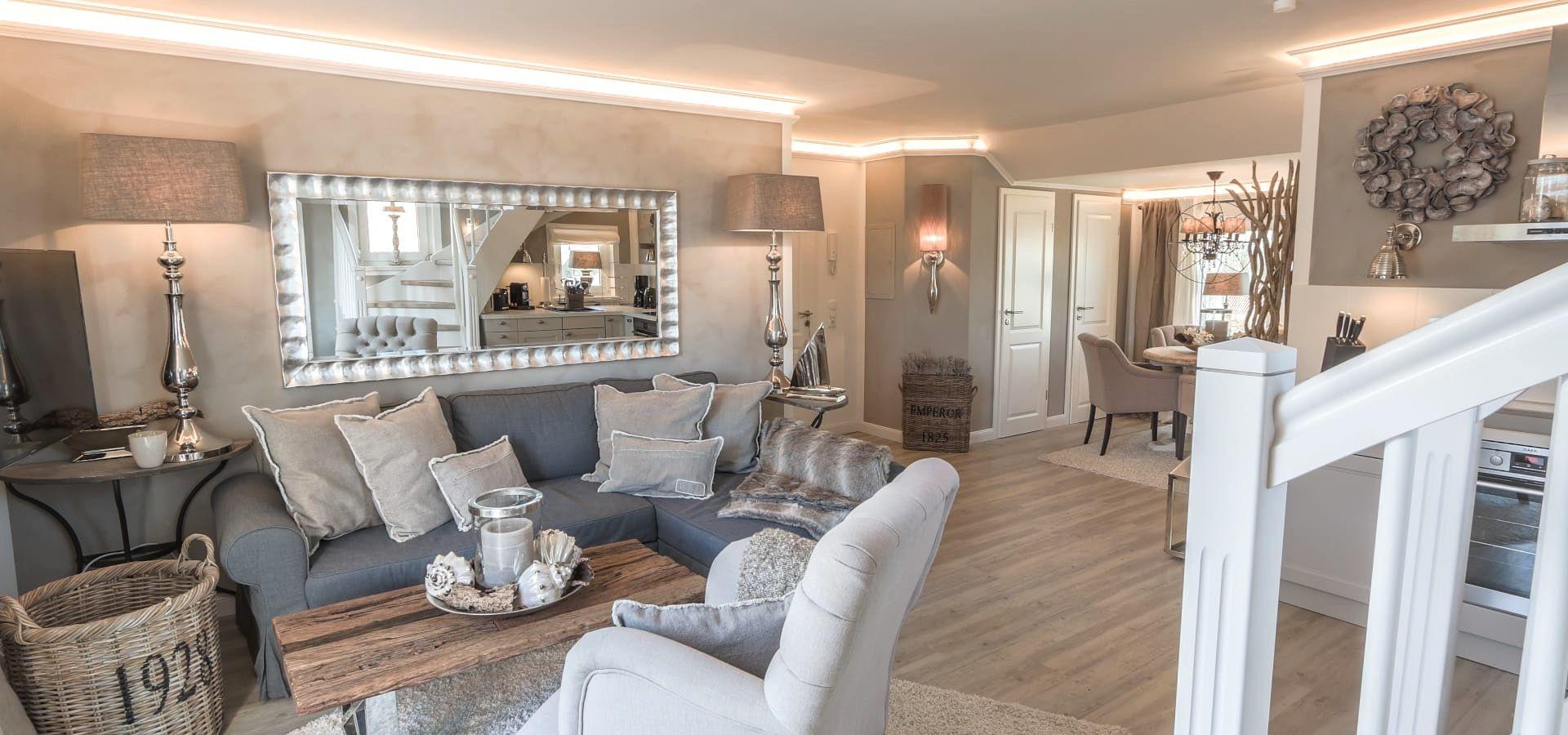 einrichtung landhausstil modern Shabby chic living room