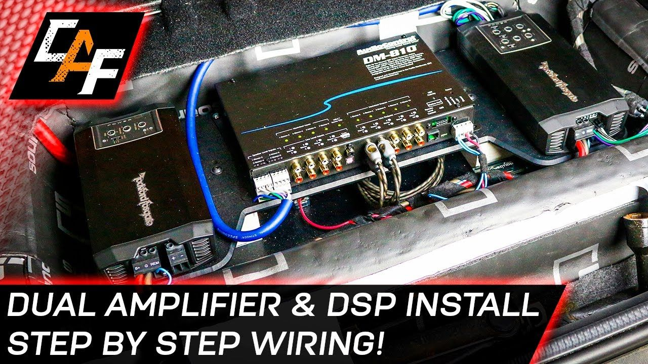 Car Audio Wiring Dual Amplifier And Dsp Install Car Audio Audio Installation Car Amplifier