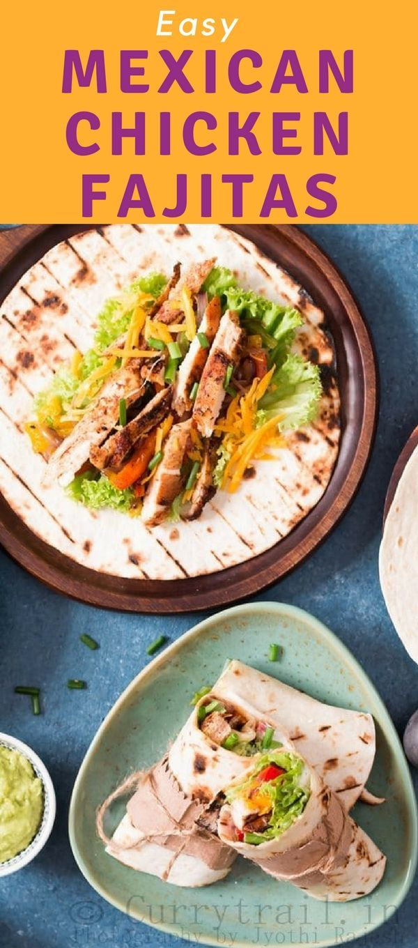 Easy Mexican Chicken Fajitas #mexicanchickentacos