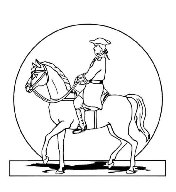 Paul Revere Relax In Horses Coloring Page For Kids Horse