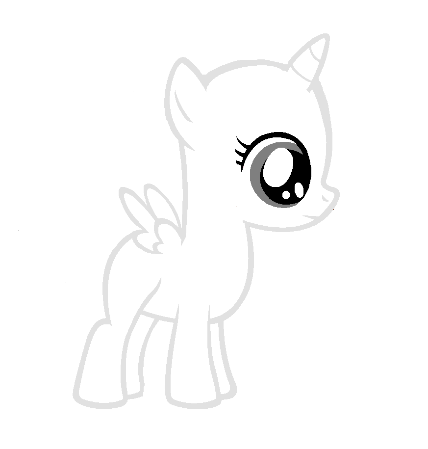 Free Pony Base Waah Colour Me In I