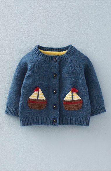 Photo of Mini Boden 'Crochet Boats' Knit Cardigan (Baby Boys & Toddler Boys) | Nordstrom