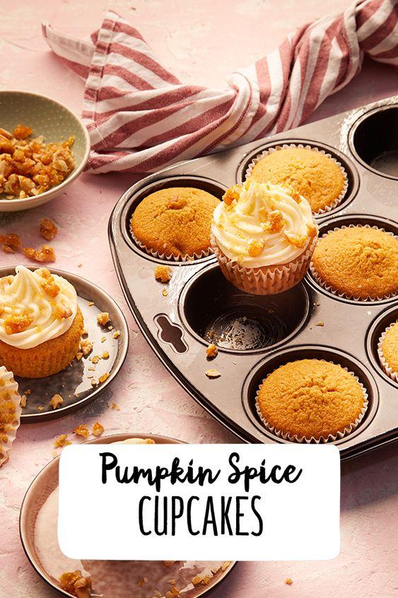 Pumpkin Spice Cupcakes #pumpkinspicecupcakes