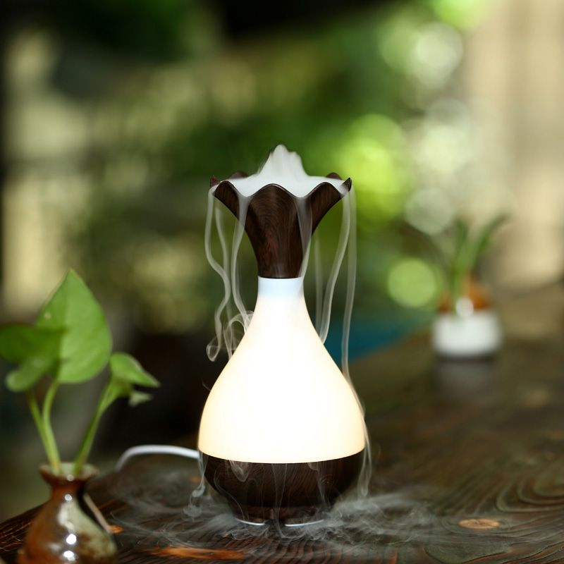 Usb Air Humidifier Aromatherapy Essential Oil Diffuser Beautiful Nigh Lamp Pp Abs Material