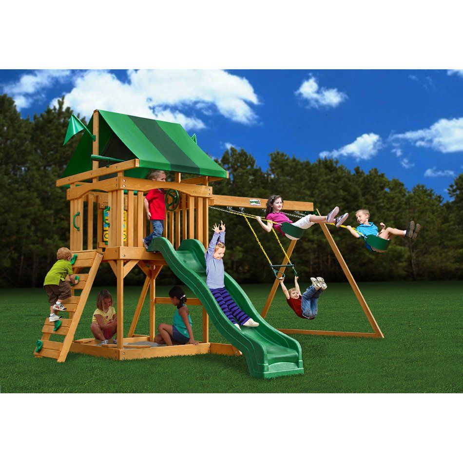 Cadence by Gorilla Playsets Wooden swing set, Swing set