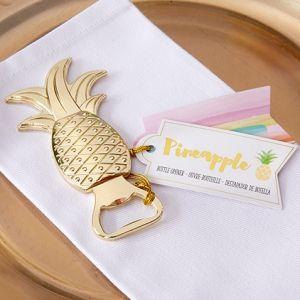 Gold Pineapple Bottle Opener Favors (Kate Aspen 11277NA)   Buy at Wedding Favors Unlimited (http://www.weddingfavorsunlimited.com/gold_pineapple_bottle_opener_favors.html).