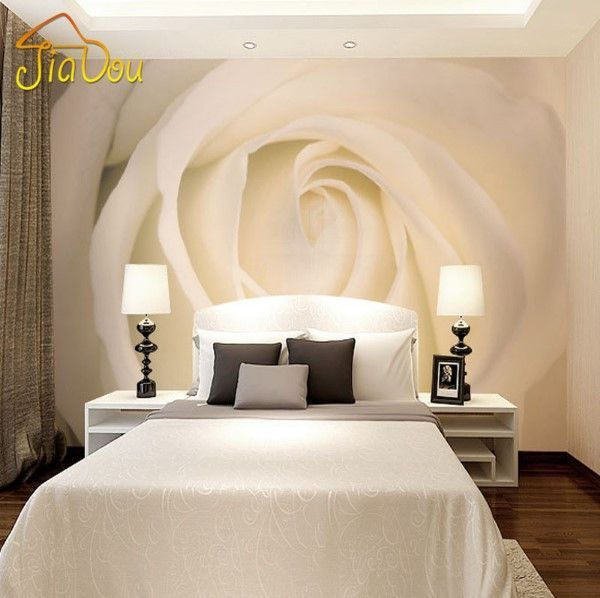Large White Single Rose 3d Wallpaper Customized Wall Mural S