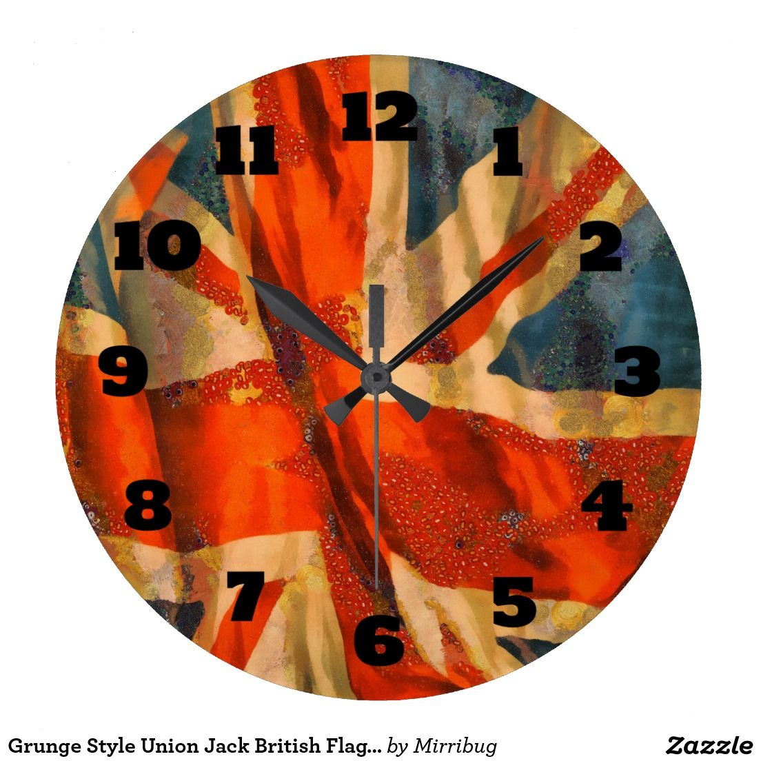 Grunge style union jack british flag illustration large clock grunge style union jack british flag illustration large clock amipublicfo Images