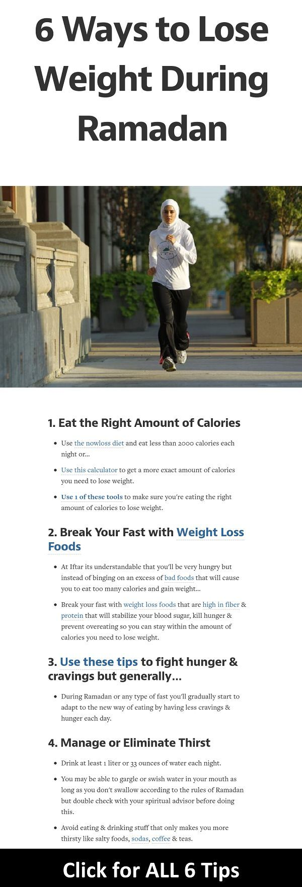 Everyday routine to lose weight