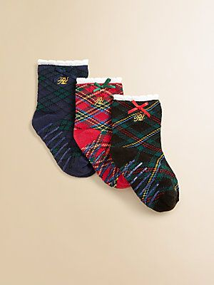 Ralph Lauren Infant's Plaid Trouser Socks