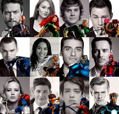 X Men Apocalypse Cast Herois Fotos Filmes