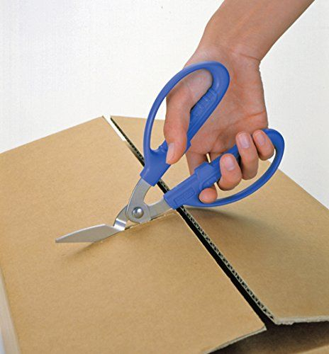 CANARY Corrugated Cardboard Scissors Blue From Japan PS-6500H