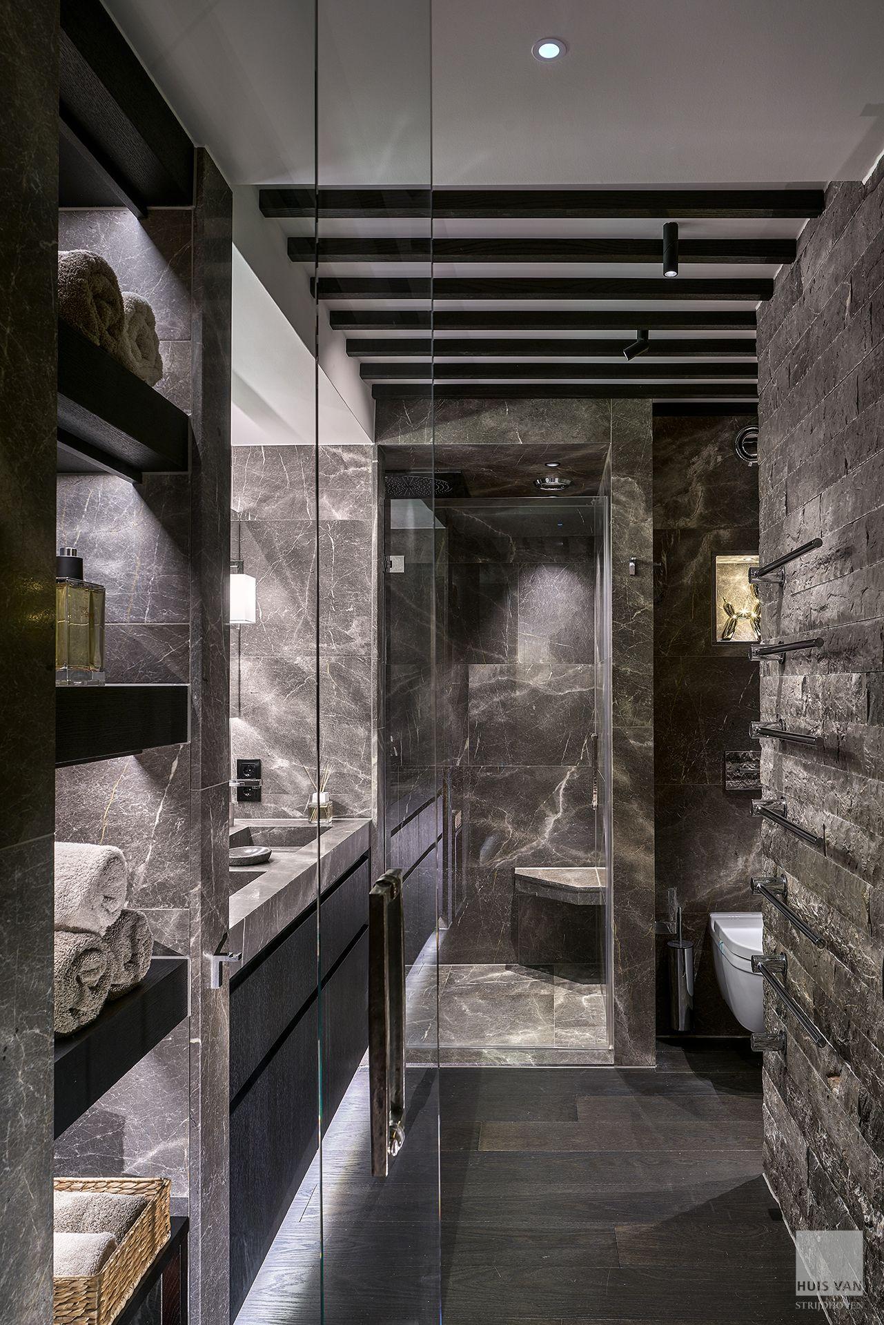 Schon Luxury Penthouse Interior Design Houten Vloer In Badkamer! Marmer Badkamer  Met Houten Details Ontwerp Door