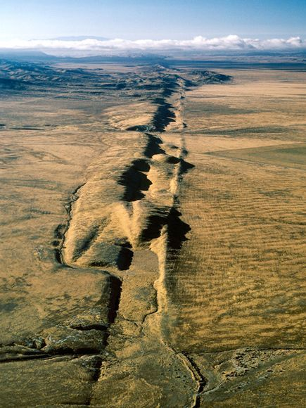 """Can't have something on California without showing the San Andreas Fault!  It's the """"biggie.""""  I've walked ON it...it's a strange feeling too!!!"""