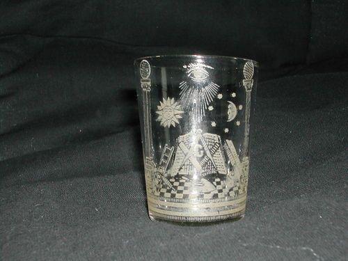 Vintage Masonic Glass
