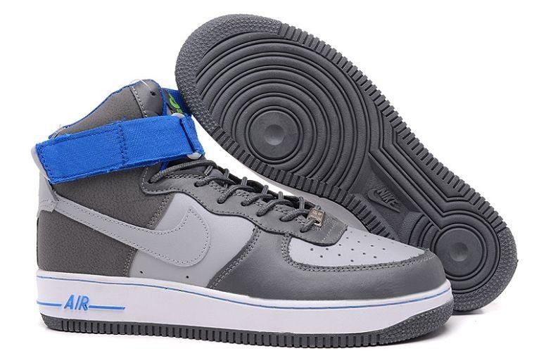 Nike Air Force Homme Gris Bleu Blanc http://www.basketnikefrance.fr