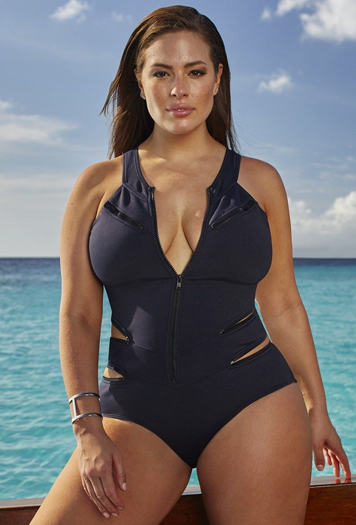 good texture outlet for sale discount collection Ashley Graham x swimsuitsforall Stakeout Swimsuit | Fashion ...