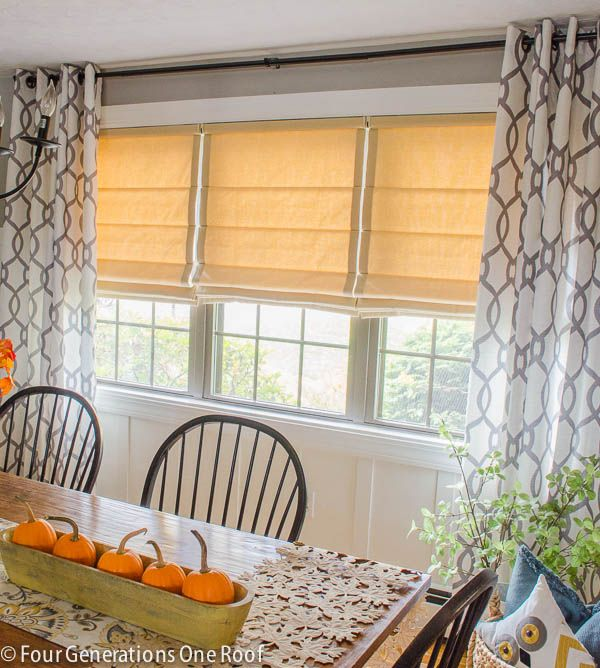 Looking To Spruce Up Your Windows Try Adding Roman Shades Window Makeover With Before After