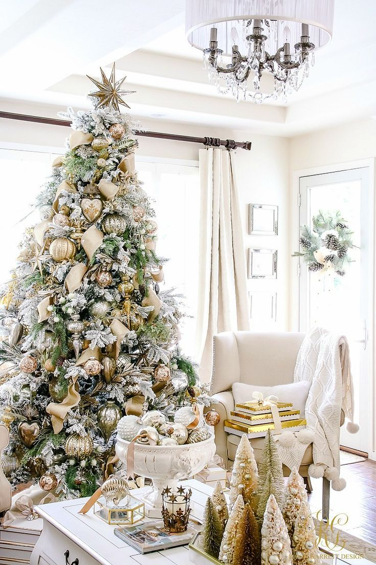 Christmas Home Tour - Holiday Home Showcase 2016 | Flocked christmas ...