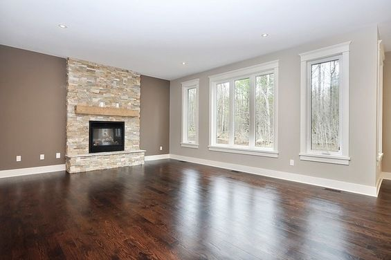 Trim Is Off White Accent Wall Fireplace Kingsport Gray Bm And Other Walls Are Castle Path Behr