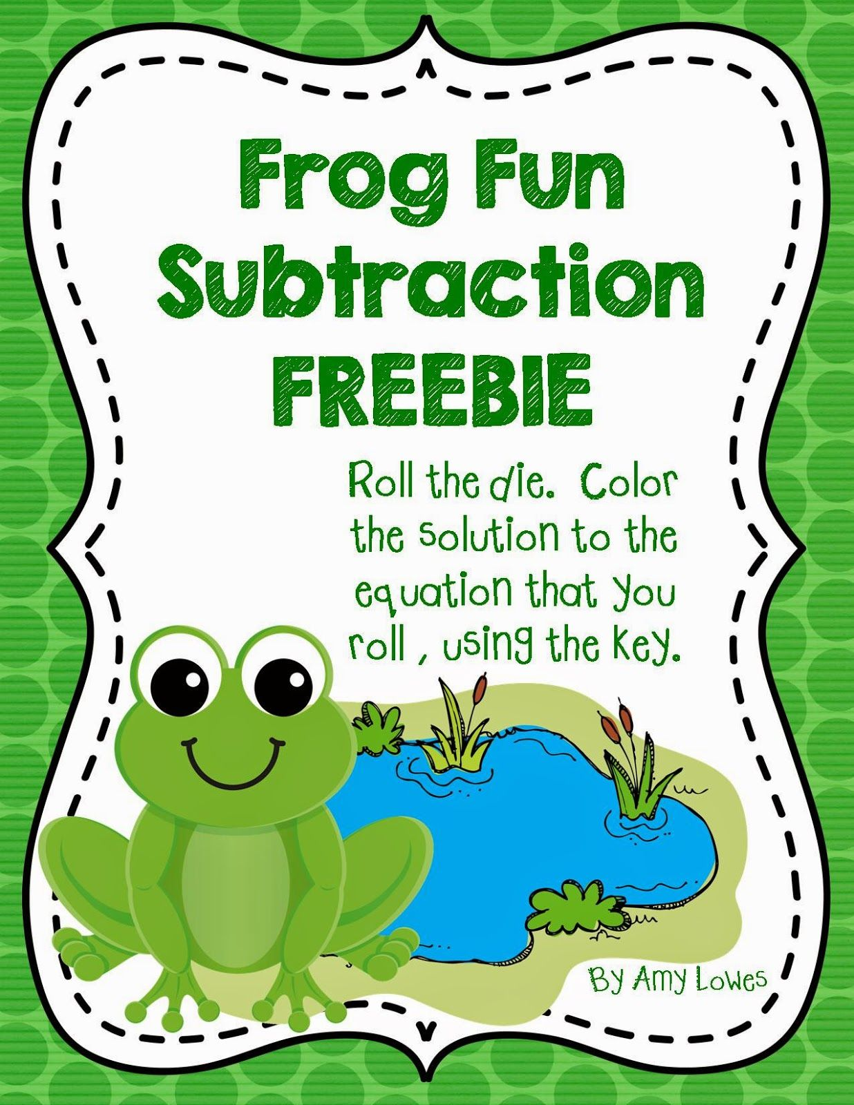Frog Fun Subtraction FREEBIE from Amy Lowes\' TpT store! | TpT FREE ...