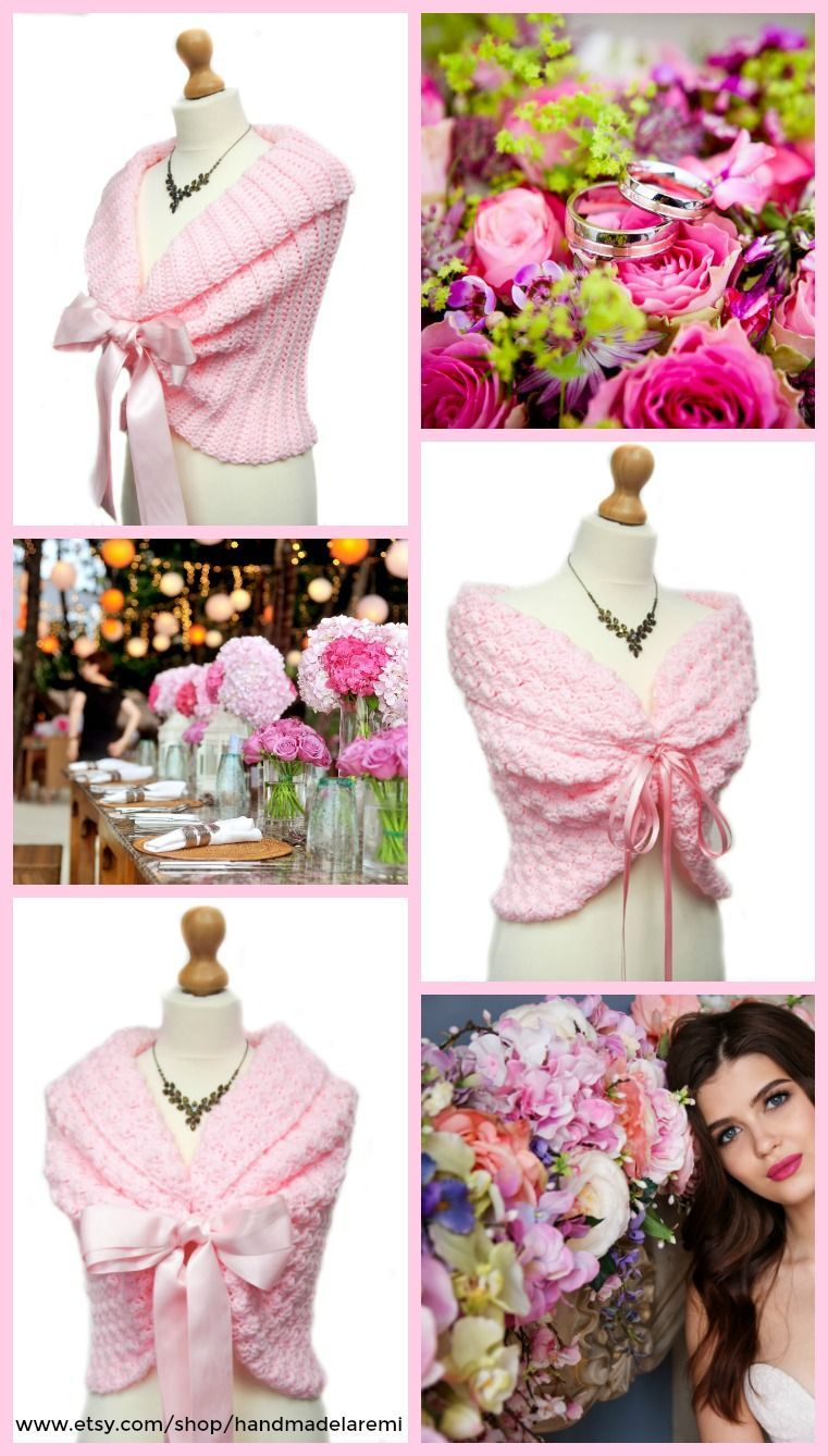 cdfe5a6e30f34 Sophisticated and elegant, these pink wedding shawls are the perfect gift  for your bridesmaids. You can feel warm and look chic in the same time.