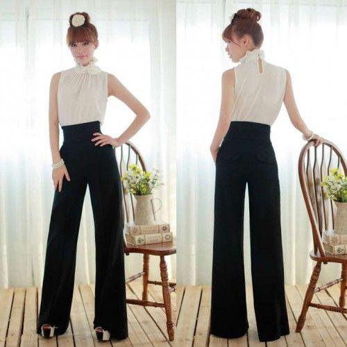 99768cae71be Pantalon Cintura Alta Pierna Ancha Palazzo | ropa y estilos ...