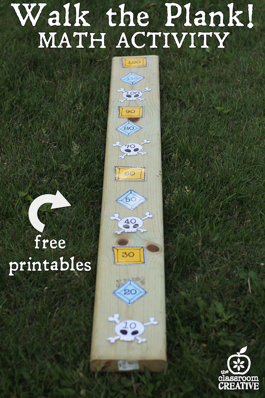 pirate math activity-walk the plank-skip counting by tens with ...
