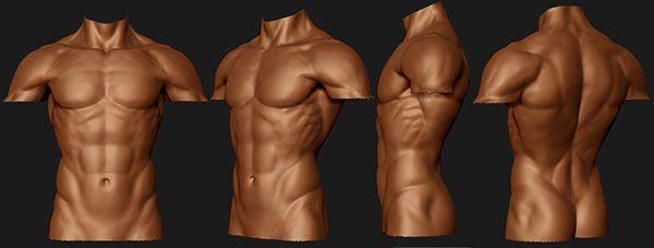 Nude men boxing
