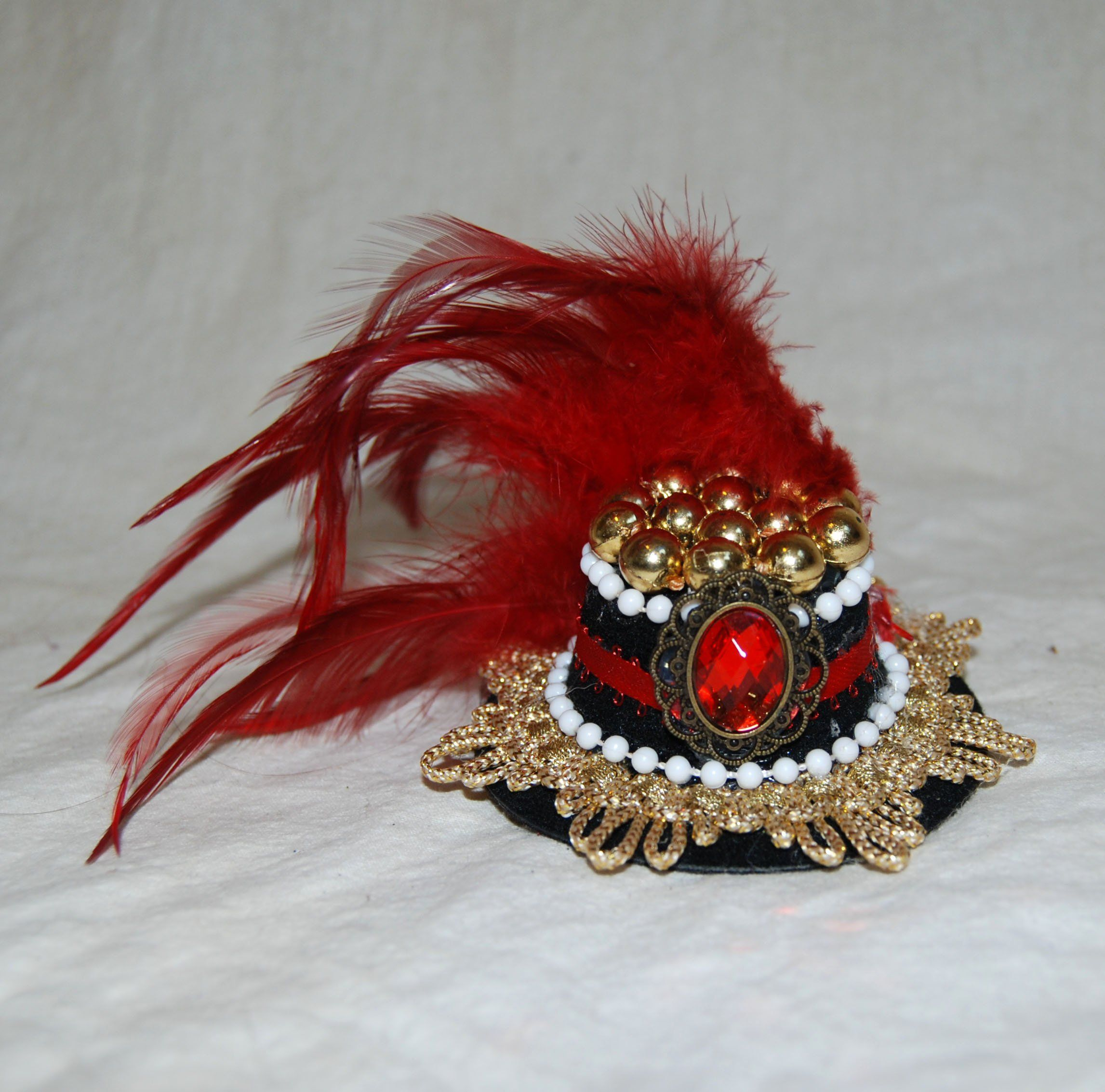 Black And #Gold Top Hat Fancy Dress Party Outfit Accessory
