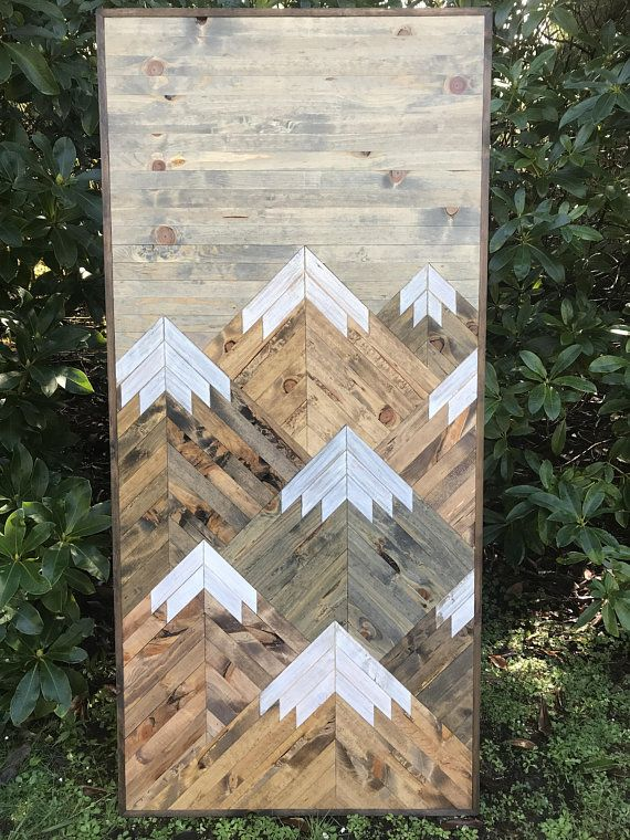 Vertical Eight Rustic Mountains Wood Wall Art