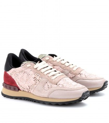Valentino - Rockstud sneakers with lace  - mytheresa.com GmbH